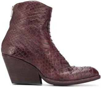 Officine Creative Thelma embossed ankle boots