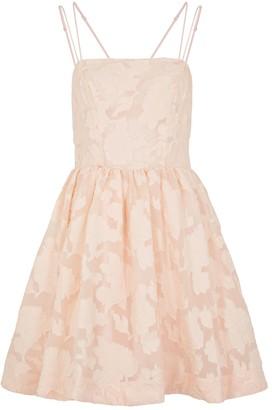 Keepsake Offset Blush Fil Coupe Mini Dress