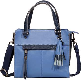 The Sak Alameda Leather Color Block Satchel Crossbody Handbag