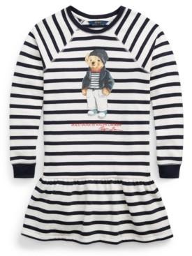 Polo Ralph Lauren Big Girls Polo Bear Fleece Dress