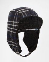 Paul Smith Check Trapper Hat - Black