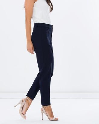 Privilege Ponte Fly Front Slim Leg Pants
