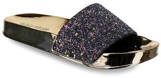 OLIVIA MILLER Delray Chunky Glitter Pool Slide Sandals Women Shoes
