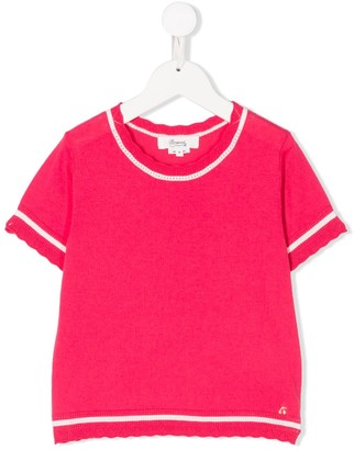 Bonpoint Lace Trim Knitted Top