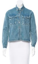 Sea Denim Lace-Paneled Jacket