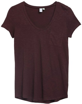 Susina Scoop Neck Pocket T-Shirt