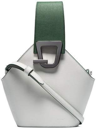 Danse Lente white Jonny mini leather bucket bag
