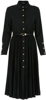 Versace Belted Midi Dress