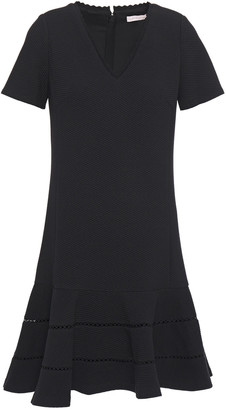 Rebecca Taylor Fluted Pique Mini Dress