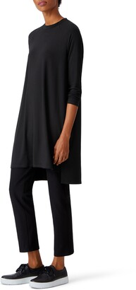 Eileen Fisher Raglan Long Sleeve Dress