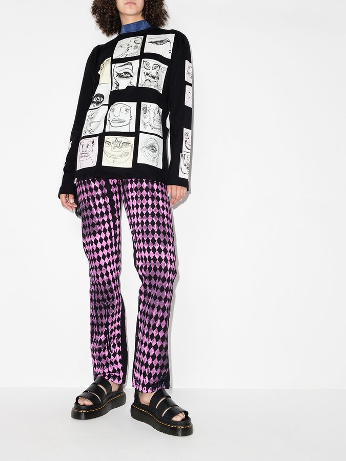 Thumbnail for your product : Charles Jeffrey Loverboy digital-print long-sleeve T-shirt