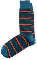 Neiman Marcus Variegated Jaspe Striped Socks