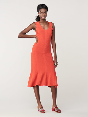 Diane von Furstenberg Clover Knit Midi Dress