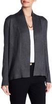 Joan Vass Ribbed Open Front Cardigan