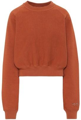 Reebok x Victoria Beckham Cotton-jersey sweatshirt