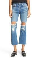 Rag & Bone Women's jeans Distressed High Rise Crop Flare Jeans