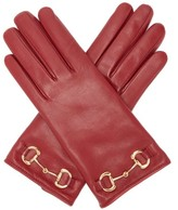 Thumbnail for your product : Gucci Horsebit Leather Gloves - Red