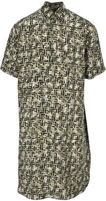 Fendi Multicolor Silk Long Shirt