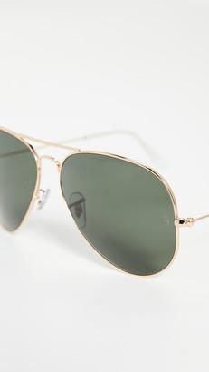 Ray-Ban RB3025 Oversized Classic Aviator Sunglasses