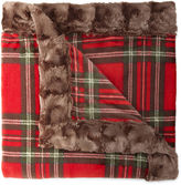 Cuddl Duds Plush Throw with Faux Fur Trim Gift Box
