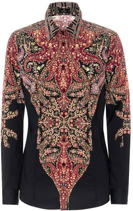 Etro Floral cotton-blend shirt