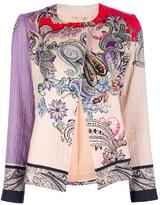 Etro ribbed floral print jacket