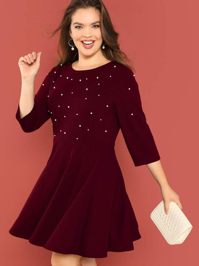 10e218c75a Shein Red Fit & Flare Dresses - ShopStyle