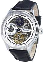 """Ingersoll Men's IN2705WH """"Boonville"""" Stainless Steel Watch with Black Leather Band"""