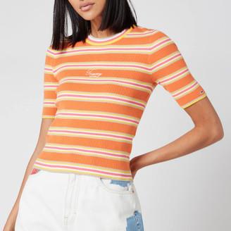 Tommy Jeans Women's Stripe 3/4 Sleeve Sweater