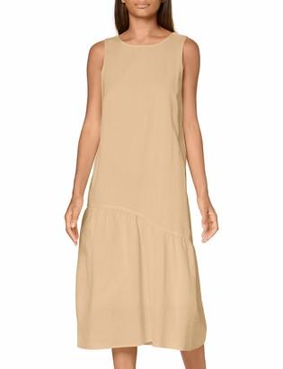 Pieces Women's Pcalinen Sl Midi Dress Bc