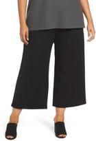 Eileen Fisher Plus Size Women's Wide Leg Drawstring Wool Pants