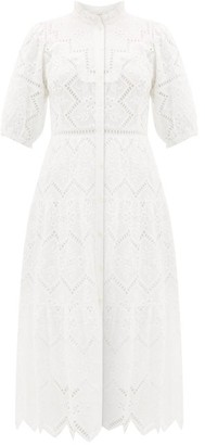 Sea Zippy Broderie-anglaise Cotton Dress - Womens - White