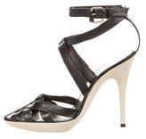 Balenciaga Leather Caged Sandals