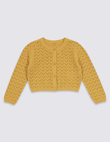 Marks and Spencer Pure Cotton Crochet Cardigan (3 Months - 8 Years)