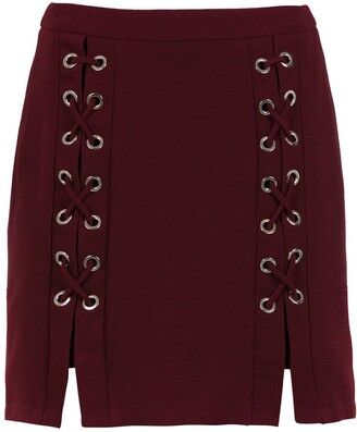 Olympiah lace up detail Messina skirt