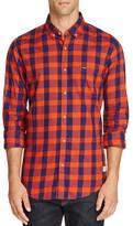 Scotch & Soda Plaid Cotton Slim Fit Button Down Shirt
