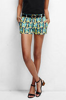 """Lands' End Women's Not-Too-Low Rise 3"""" Chino Shorts-Punch Multi Stripe"""