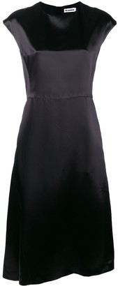 Jil Sander Sheen Flared Dress