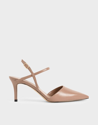 Charles & Keith Ankle Strap Stiletto Court Shoes