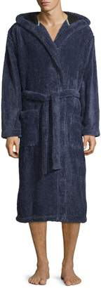 Black Brown 1826 Plush Hooded Robe