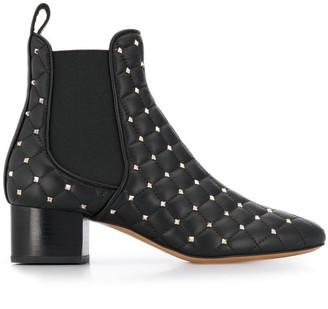 Valentino Rockstud Spike Leather Boots