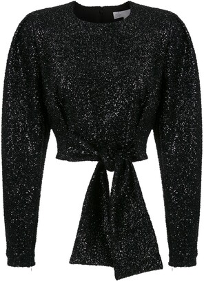 Nk Sequinned Front-Tie Blouse