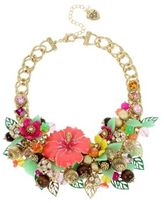 Betsey Johnson Tropical Punch Flower Beaded Necklace