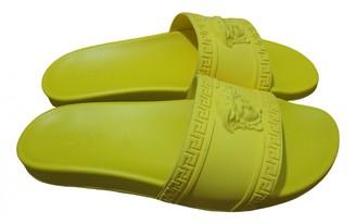 Versace Yellow Rubber Sandals