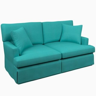 Annie Selke Home Saybrook Sofa Upholstery Color: Adams Ticking Brick