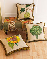 Embroidered Pillows & Patchwork Bench