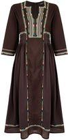 Max Mara Weekend ARLEM 34 sleeve embroidered midi dress