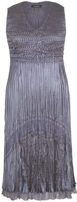 Chesca Chiffon And Lace Pleat Dress, Steel