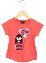 Little Marc Jacobs Girls' Short Sleeve Graphic Print Top