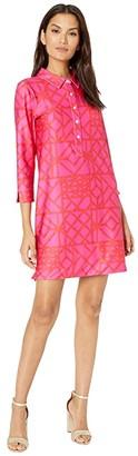 Vineyard Vines UPF Margot Shirtdress (Raspberry/Rose) Women's Dress